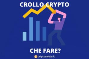 Crollo prezzo bitcoin